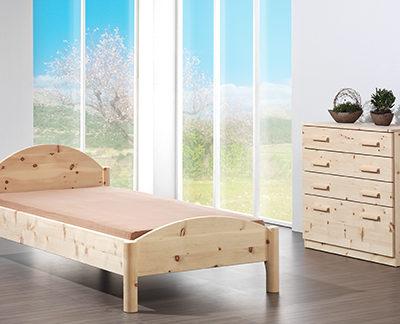 Diogenes Einzelbett in Zirbenholz