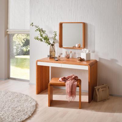 Com:ci Schreibtisch mit Laden als Schminktisch, mit Bank und Spiegel