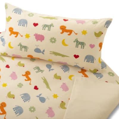 Kinderbettwäsche Arche Noah aus kbA Baumwolle