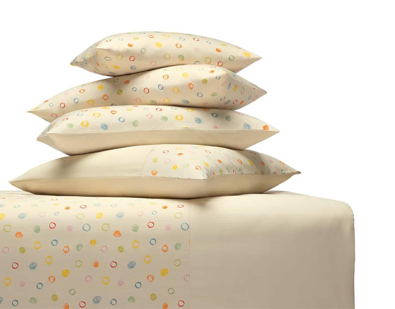 Kinderbettwäsche Kritzelkreise aus kbA Baumwolle