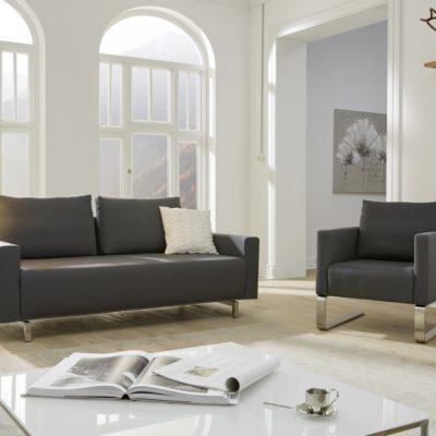 Gio 2,5-Sitzer + Schwingsessel in Stoff Novum